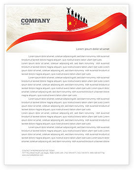 Chinese Economy Letterhead Template, 04423, Careers/Industry — PoweredTemplate.com