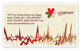 Beat Business Card Template, 04431, Medical — PoweredTemplate.com