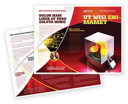 Music Copyright Brochure Template, 04432, Legal — PoweredTemplate.com