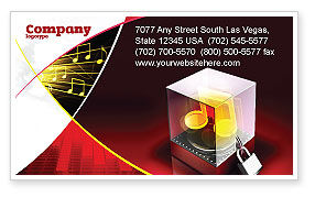 Music Copyright Business Card Template