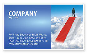Careers/Industry: Success Way Business Card Template #04434