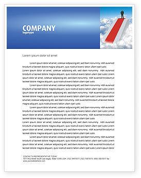 Success Way Letterhead Template, 04434, Careers/Industry — PoweredTemplate.com