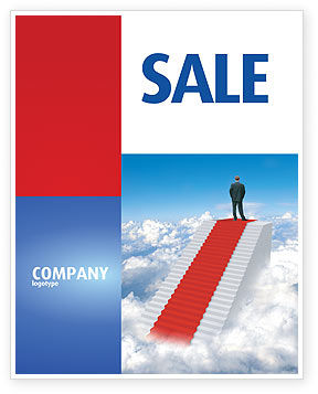 Success Way Sale Poster Template, 04434, Careers/Industry — PoweredTemplate.com