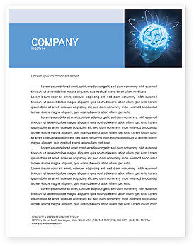 Medical: Brain Waves Letterhead Template #04437