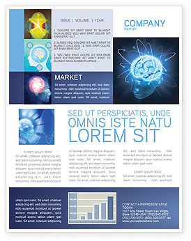 Medical: Brain Waves Newsletter Template #04437