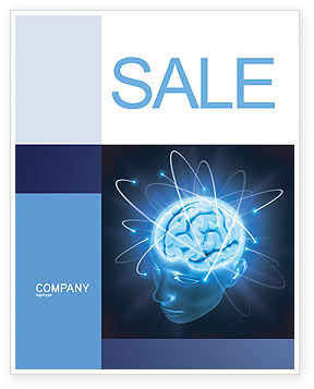 Brain Waves Sale Poster Template, 04437, Medical — PoweredTemplate.com