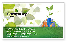Ecology Building Business Card Template, 04438, Nature & Environment — PoweredTemplate.com