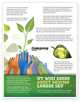 Ecology Building Flyer Template, 04438, Nature & Environment — PoweredTemplate.com