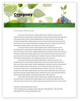 Nature & Environment: Ecology Building Letterhead Template #04438