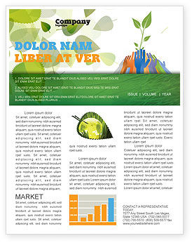 Nature & Environment: Ecology Building Newsletter Template #04438