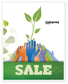 Ecology Building Sale Poster Template, 04438, Nature & Environment — PoweredTemplate.com