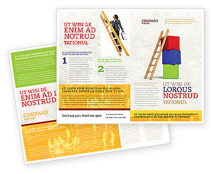 Ladder Brochure Template, 04442, Education & Training — PoweredTemplate.com