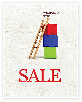 Education & Training: Ladder Sale Poster Template #04442