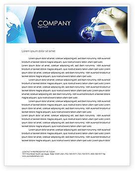 Volumetric Flask Letterhead Template, 04443, Technology, Science & Computers — PoweredTemplate.com