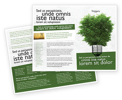 Nature & Environment: Green Energy Brochure Template #04448