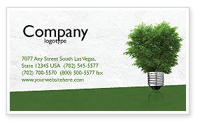 Nature & Environment: Green Energy Business Card Template #04448