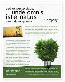Nature & Environment: Green Energy Flyer Template #04448