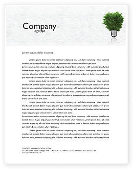 Nature & Environment: Green Energy Letterhead Template #04448