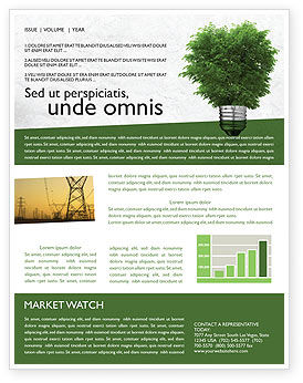 Nature & Environment: Green Energy Newsletter Template #04448