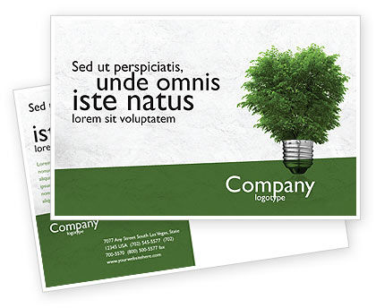Green Energy Postcard Template, 04448, Nature & Environment — PoweredTemplate.com