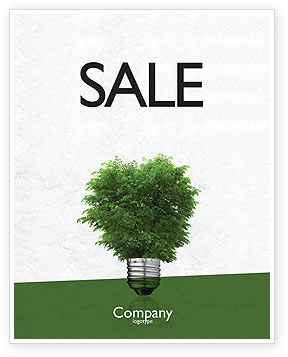Nature & Environment: Green Energy Sale Poster Template #04448