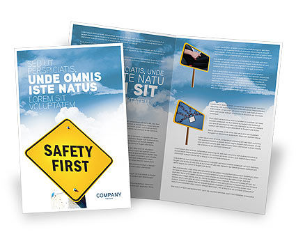 Safety First Brochure Template Design And Layout, Download Now