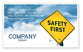 Careers/Industry: Safety First Business Card Template #04449