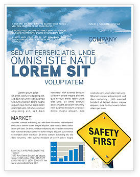 safety first newsletter template for microsoft word adobe indesign