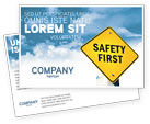 Careers/Industry: Safety First Postcard Template #04449