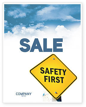 Safety First Sale Poster Template, 04449, Careers/Industry — PoweredTemplate.com