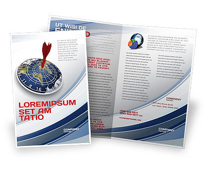 World Target Brochure Template, 04452, Business Concepts — PoweredTemplate.com
