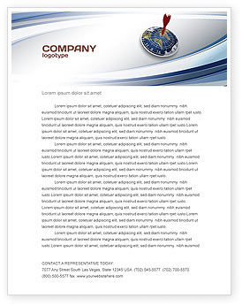 Business Concepts: World Target Letterhead Template #04452