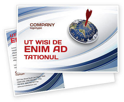Business Concepts: World Target Postcard Template #04452