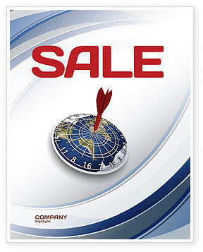 World Target Sale Poster Template, 04452, Business Concepts — PoweredTemplate.com