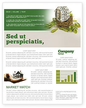 Loan On Mortgage Newsletter Template, 04454, Financial/Accounting — PoweredTemplate.com