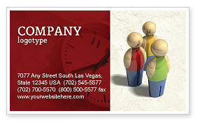 Staff Business Card Template, 04455, Consulting — PoweredTemplate.com