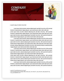 Staff Letterhead Template, 04455, Consulting — PoweredTemplate.com