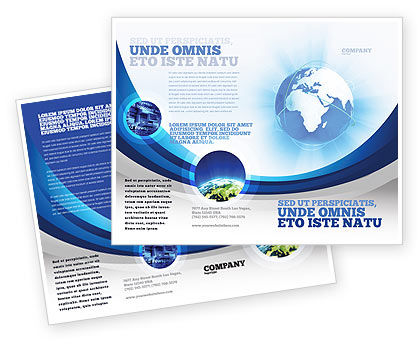 Blue Globe Brochure Template