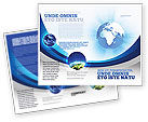 Global: Blue Globe Brochure Template #04456