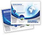 Global: Modelo de Brochura - globo azul #04456