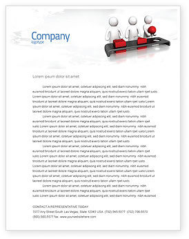 Intellectual Test Letterhead Template, 04459, Education & Training — PoweredTemplate.com