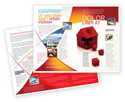 3D Cubes Building Brochure Template