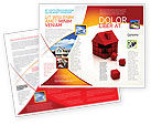 Construction: 3D Cubes Building Brochure Template #04463