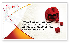 Construction: 3D Cubes Building Business Card Template #04463
