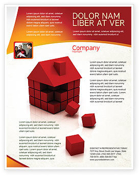 3D Cubes Building Flyer Template, 04463, Construction — PoweredTemplate.com