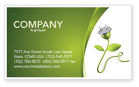 Careers/Industry: Renewable Energy Business Card Template #04465
