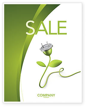 Careers/Industry: Renewable Energy Sale Poster Template #04465