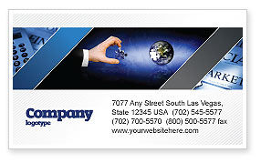 Business: Incomplete Business Card Template #04468