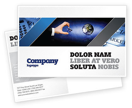 Incomplete Postcard Template, 04468, Business — PoweredTemplate.com