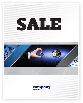 Incomplete Sale Poster Template, 04468, Business — PoweredTemplate.com